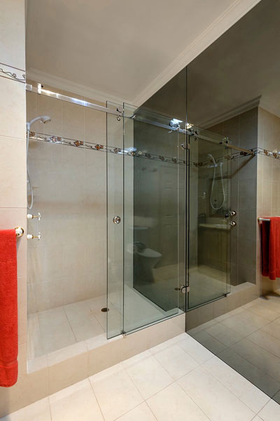 Shower frames double