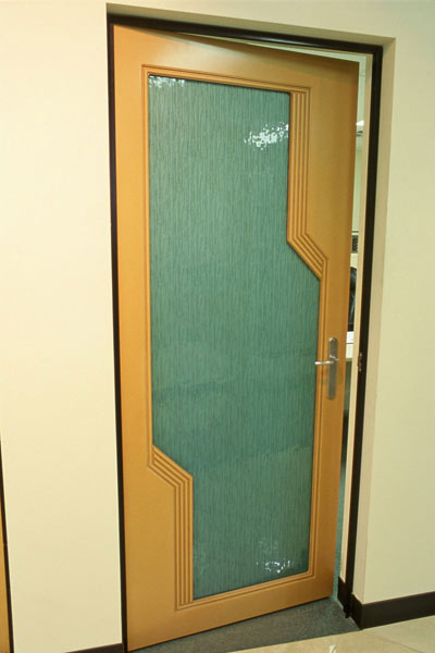 SLUMP GLASS DOORS