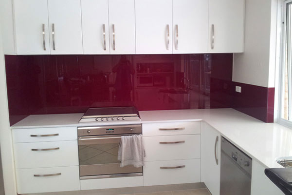 Kitchen Plum Splashback