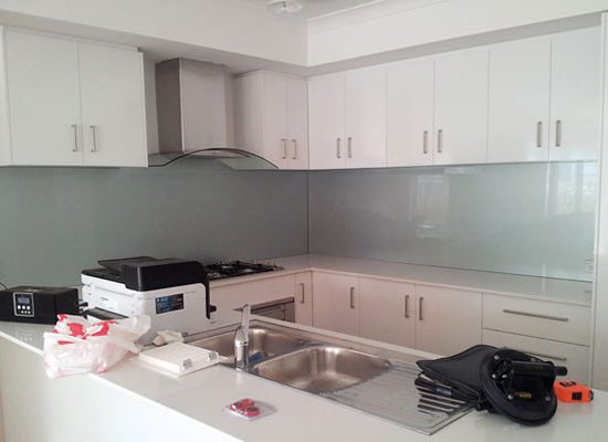 Kitchen Silver Splashback